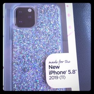 Case For IPhone 11 Pro , Silver Glitter, New